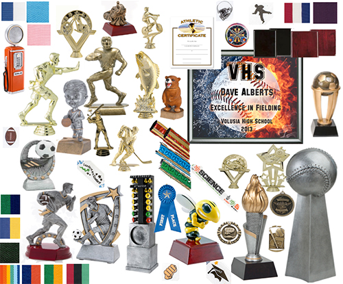 Resins, Acrylics, Bobblehead Figures, Columns, Trophies